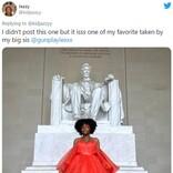 新型コロナウイルスの影響で中止になったプロム用のドレスを着てワシントンDCで記念撮影した女子高生が話題 「男子は全員瞬殺されるわね」「メットガラに招待されるレベル」