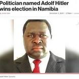 選挙で勝利したアドルフ・ヒトラーさん「世界征服の計画はない」と主張(ナミビア)