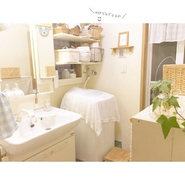 洗濯機の上の棚DIYアイデア