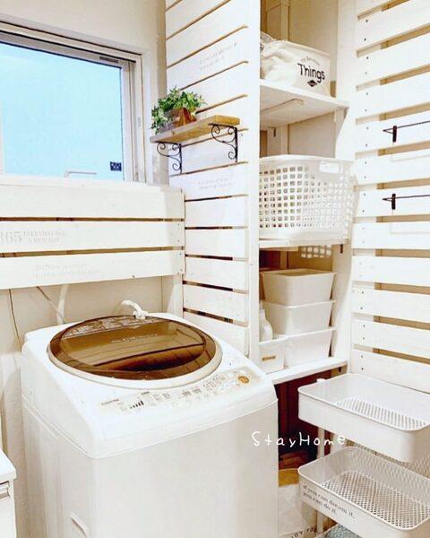 洗濯機の上の棚DIYアイデア10
