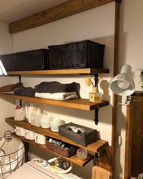 洗濯機の上の棚DIYアイデア2