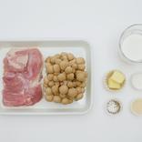 レンチン6分で本格煮込み。切って混ぜるだけ「鶏肉ときのこのクリーム煮」レシピ