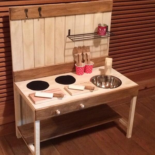 すのこを使った簡単な手作りキッチン