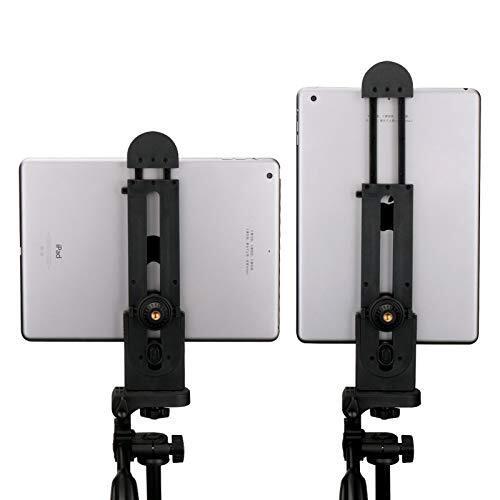 Ulanzi iPad三脚マウント プラスチック 支持55-278mm幅 調整可能 タブレットクランプホルダー iPad Pro/iPad Air/iPad/iPad Mini(5インチ-12インチスクホルダーリーン)など