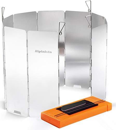 Alpinista 防風板 ウインドスクリーン 折り畳み式 アルミ製 10枚 7点セット ペグ4本ハードケース日本語説明書付 (24cm, 7点セット)