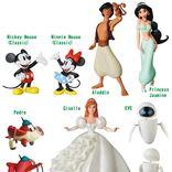 ディズニーのアラジンとジャスミンがミニサイズのフィギュアに!