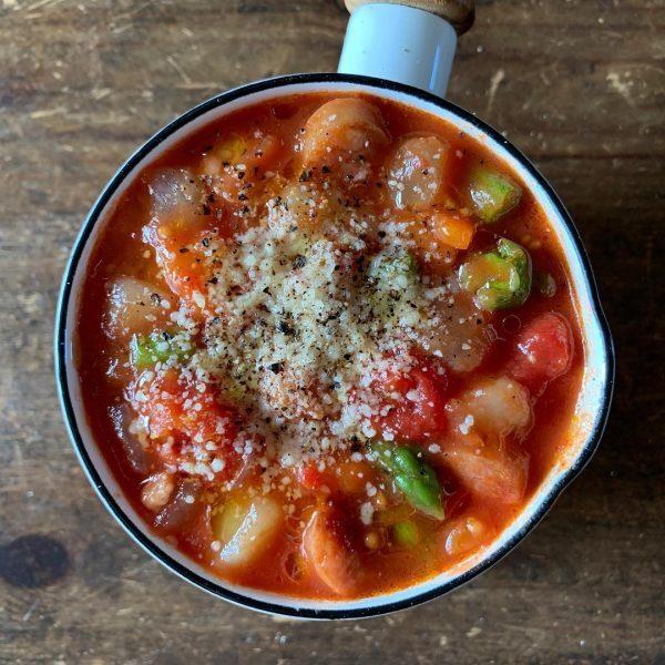 具沢山で美味しいレシピ!トマトスープ