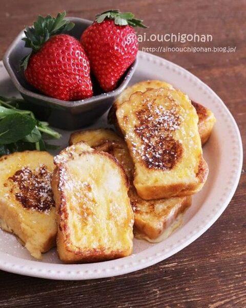 牛乳の消費に!りんごのフレンチトースト