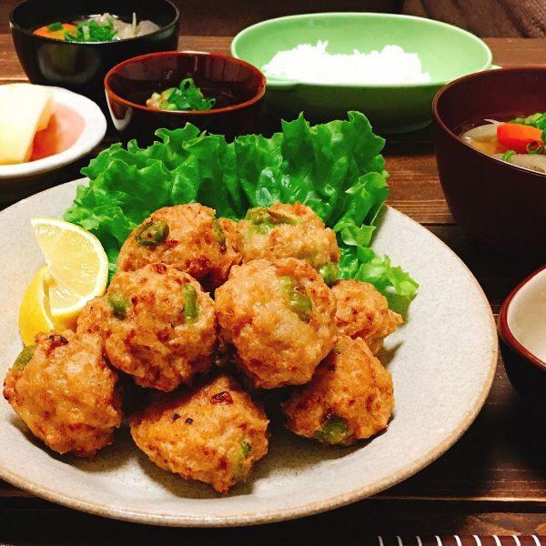 鶏肉と豆腐のふわふわ揚げ