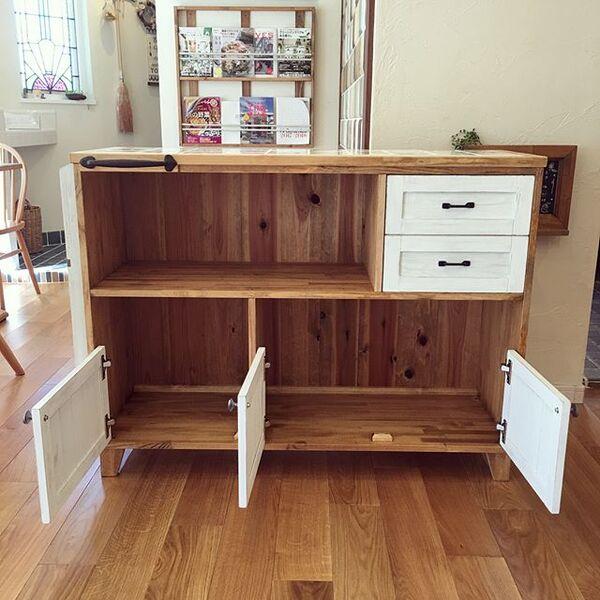 キッチン収納併用カウンターテーブル