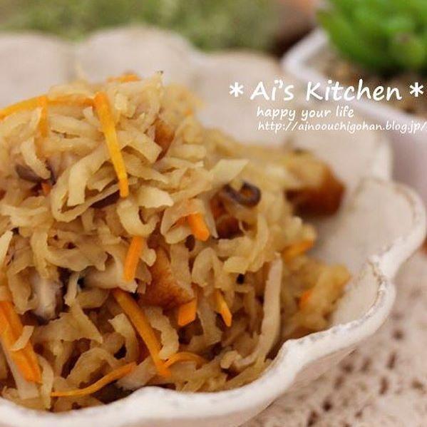 和食の常備菜の定番「切干し大根の煮物」