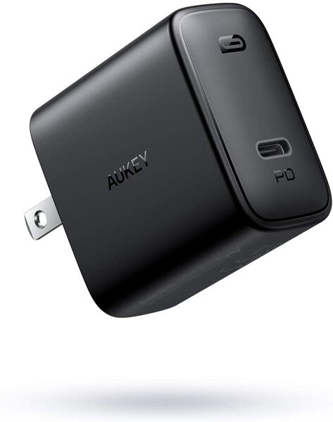 AUKEY 充電器 USB-C急速充電器 アダプタ 30W 最小・最軽量クラス 折畳式 / PD3.0対応 iPhone 12 / 12 Pro / 12Pro Max/iPhone 12Mini /iPhone 11/11 Pro/XR/8、GalaxyS10、MacBook、iPad Pro、Nintendo Switchその他USB-C機器対応 PA-F2 ブラック