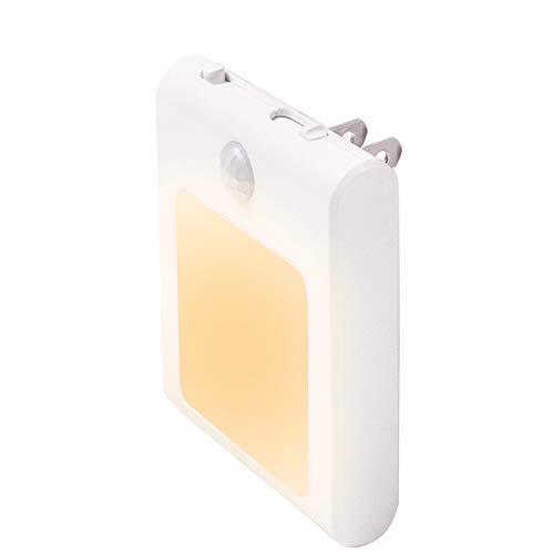 センサーライト 人感 足元灯 JOKBEN 三つモード コンセント 明るさ調節 LED 廊下 玄関 階段用 PSE取得済 電球色 1個
