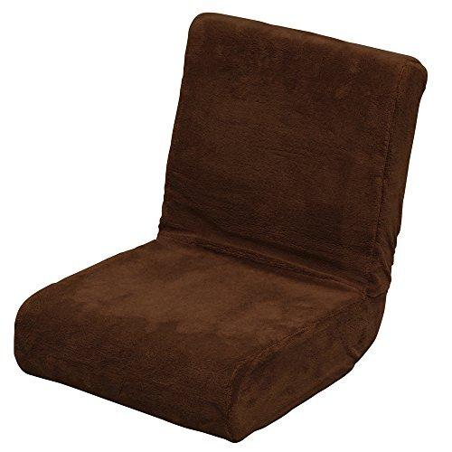 アイリスオーヤマ 座椅子 & 枕 2way ふわふわ フロアチェア コンパクト 折りたたみ 収納 ブラウン ZC-9
