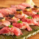 【必見】「肉寿司食べ放題」が衝撃の安さ♪ 飲み放題つけてもこの安さ