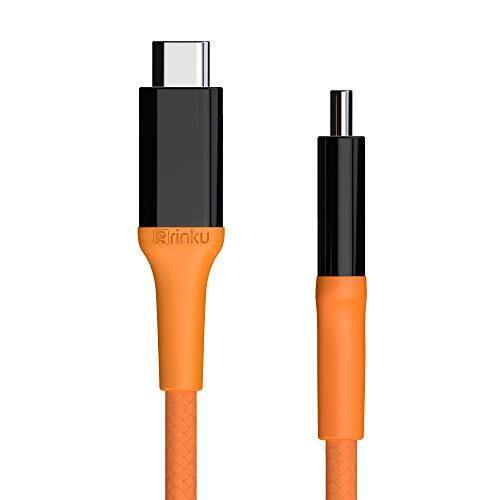 RINKU USB-C&USB-C 3.2 (GEN2x2) ケーブル [最大20Gbpsデータ伝送] &[Thunderbolt 3 対応]&[4K@60Hz映像伝送対応] &[USB PD/QC 3.0 対応 20V&5A 最大100W電力伝送] [E-Marker内蔵] - 1メートル (2M)