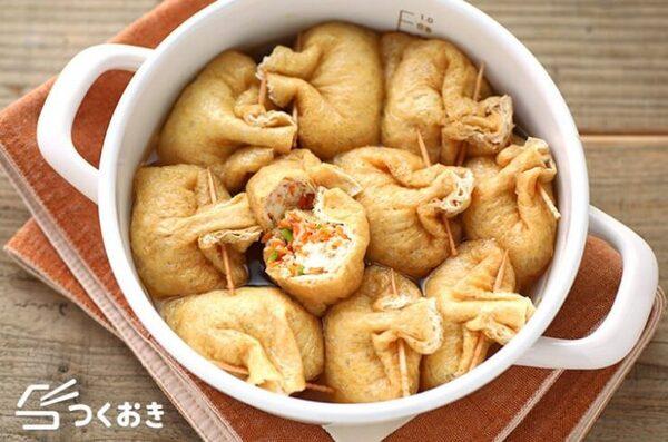 豆腐でヘルシー!和食の五目きんちゃく煮