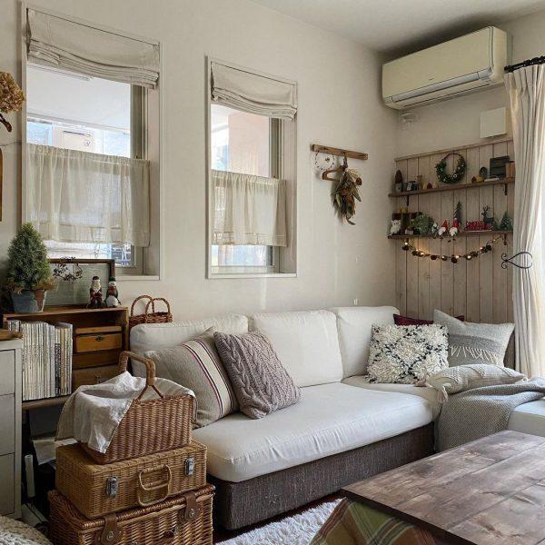 温もりのあるナチュラルカントリーな部屋の実例