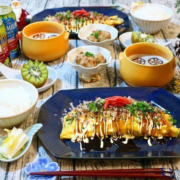 人気料理のとんぺい焼きの節約レシピの献立