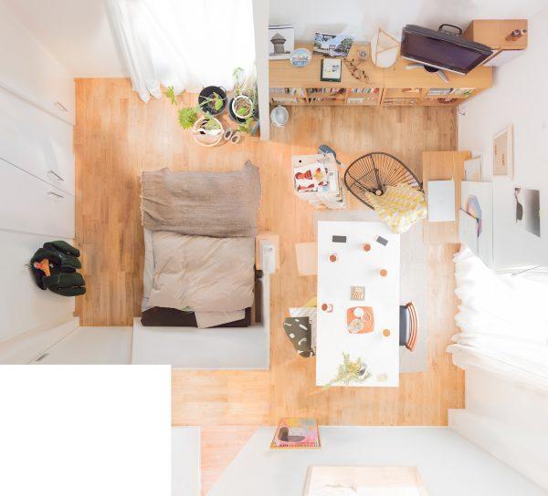 二人暮らしのベッドスペース5
