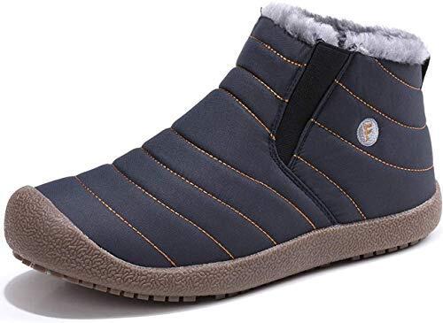 [SIXSPACE] スノーブーツ スノーシューズ ショート ブーツ メンズ レディース 防水 防寒 防滑 保暖 冬用 カジュアル 綿雪靴 ブルー 26cm