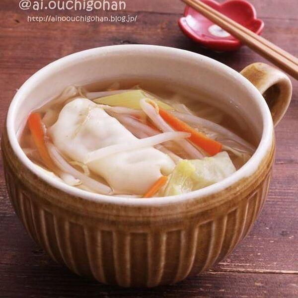 冷凍餃子でラクラク!人気の具沢山スープ