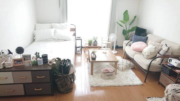 華奢な家具を使えば広見えする