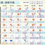 週間天気 7日木曜頃から寒気襲来 名古屋や大阪など太平洋側も雪か