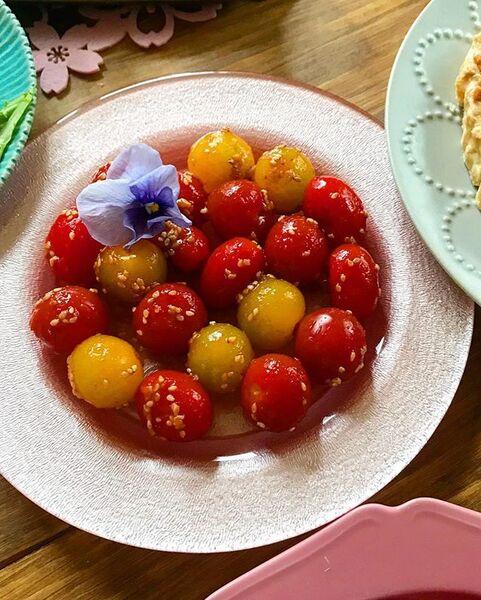 鮮やかな食卓に♪人気のミニトマトキムチ