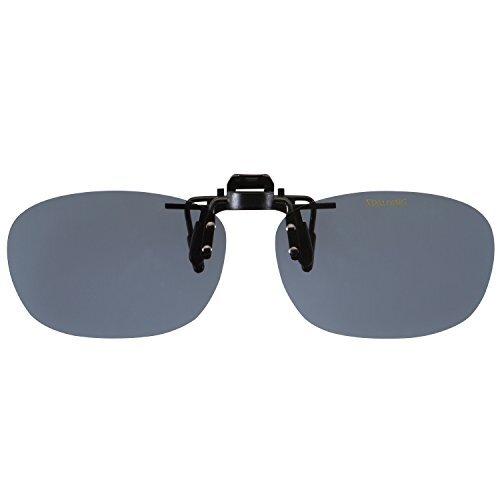 SPALDING(スポルディング) 偏光 クリップオン メガネの上からつけられる CP-9 SMP2 偏光スモーク2