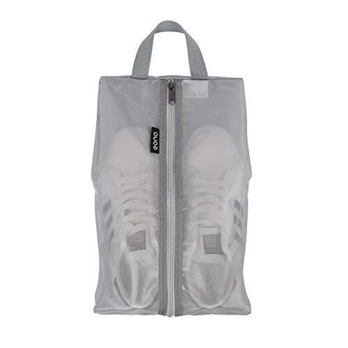 [Amazonブランド] Eono(イオーノ)シューズケース シューズバッグ シューズ袋 軽量 防水 半透明 防塵 多機能 靴入れ 小物入れ 収納バッグ 旅行 出張 収納 便利 (グレー)