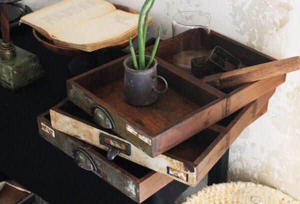 セリア「木製トレイM」4