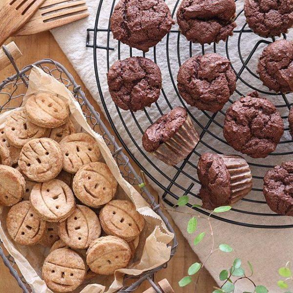 卵を使わないチョコマフィン&クッキー