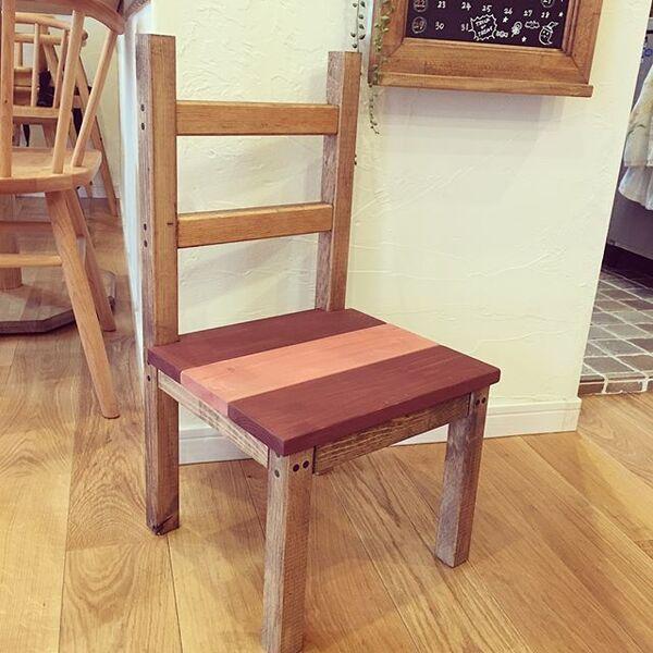 ヴィンテージワイン色の椅子をDIY