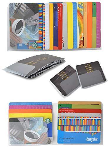 【雑誌掲載!2種類セット 長財布 ・ 二つ折り財布 ・ ミニ財布 に入れて使える】 カードケース インナーカードケース GUAPO 最大48枚収納 財布 に入れるタイプ 薄型 カード入れ スリム