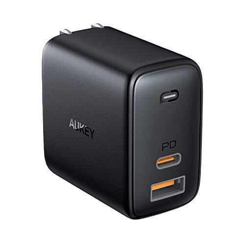 AUKEY AUKEY(オーキー) USB充電器 Omnia Mix 65W [USB-A 1ポート/USB-C 1ポート] ブラック AUKEY(オーキー) Black PA-B3-BK [USB Power Delivery対応]