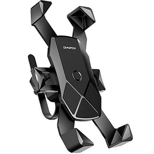 自転車ホルダー 1秒ロックアップ オートバイ バイク スマートフォン 振れ止め 脱落防止 GPSナビ 携帯 固定用 マウント スタンド iPhone X XS 8 7 6 6S Plus/HUWEI Mate P20 P10 lite/Xperia android 多機種対応 360度回転 脱着簡単