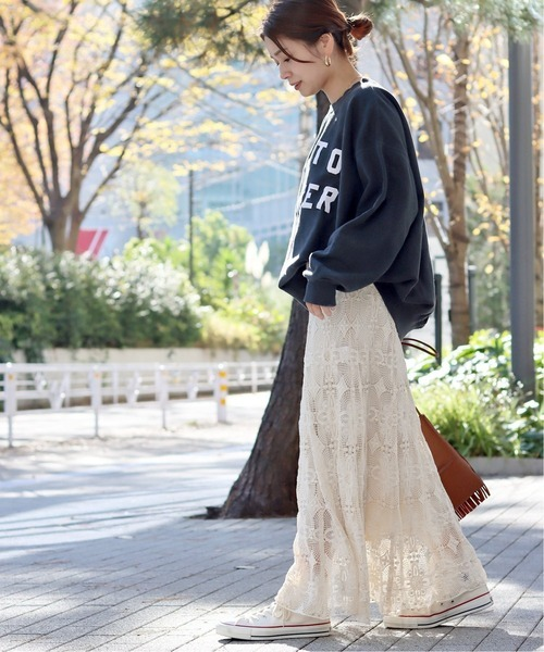 [JOURNAL STANDARD] 【CLANE/クラネ】CLASSIC LACE MERMAID SKIRT:スカート◆
