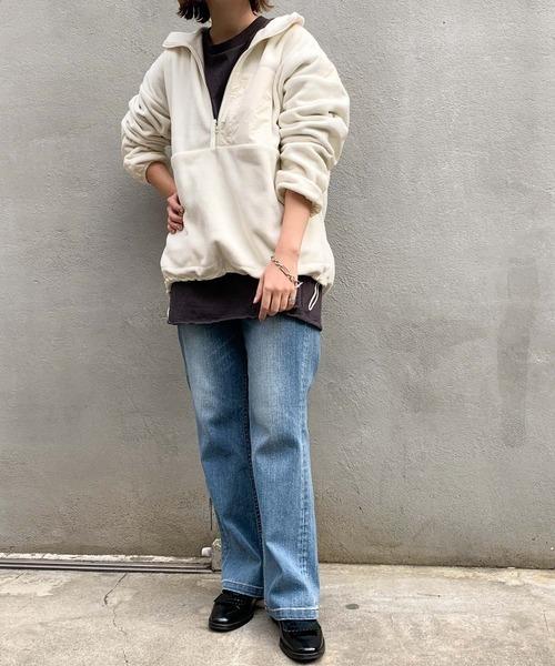 [CIAOPANIC TYPY] 【WEB限定】(GERRY/ジェリー)フリースハーフジップジャケット