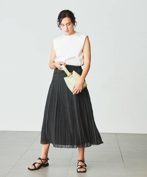 シフォンプリーツロングスカート