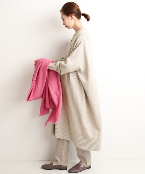[IENA] 【ADAWAS/アダワス】CASHMERE BLENDED ワンピース◆