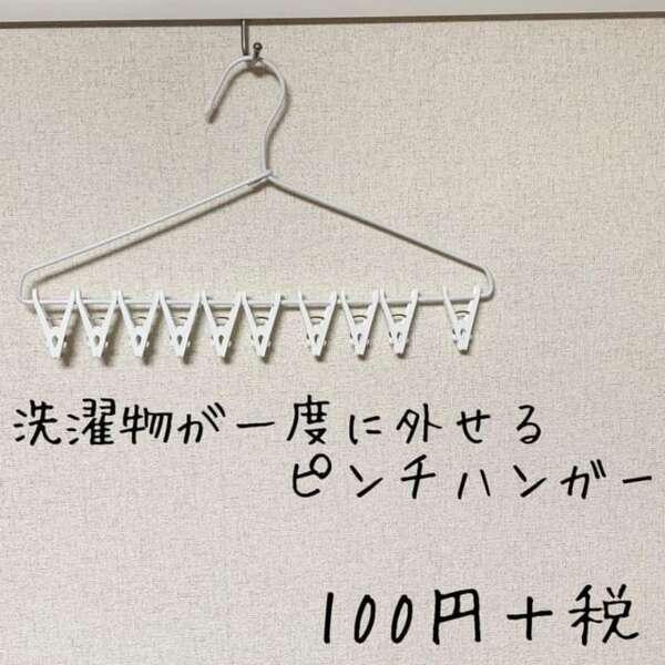 洗濯物が一度に外せるピンチハンガー