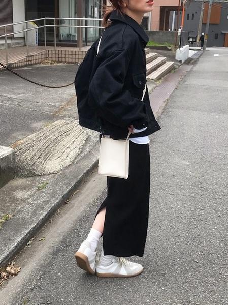 ユニクロタイトスカート×Gジャンの春コーデ