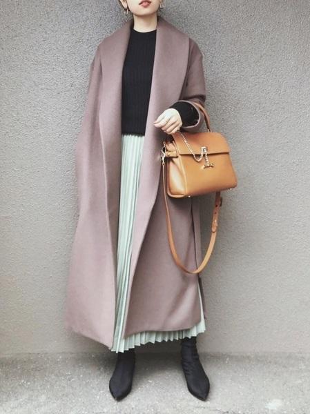GUのオーガンジープリーツスカート