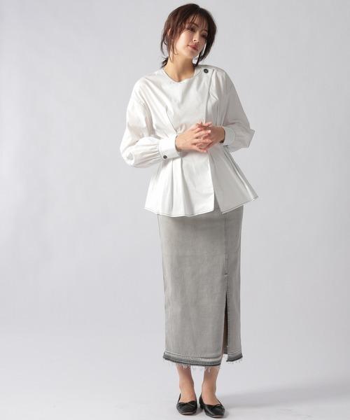 [Ezick] 【先行予約】タイトデニムスカート