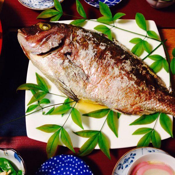 美味しい焼き魚!鯛の塩焼き