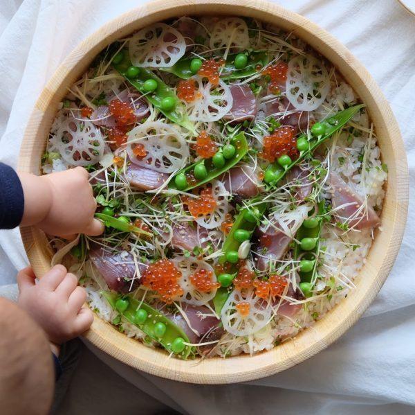 上品な春の味わい!鰹のちらし寿司