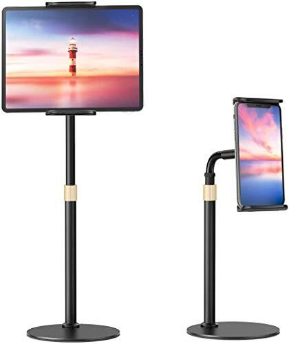 【2020最新強化版】タブレット スタンド 卓上両用 スマホスタンド iPad スタンド フレキシブルアームスタンド 姿勢改善 揺れず頑丈な金属製台座 安定性抜群 360回転 高さ調整可伸縮 スマホホルダー 4.7-10.5インチに対応(iPhone/iPad mini Air Pro/Nintendo Switch/Huawei/Xperia/Galaxy/SONY/Kindle等多機種)