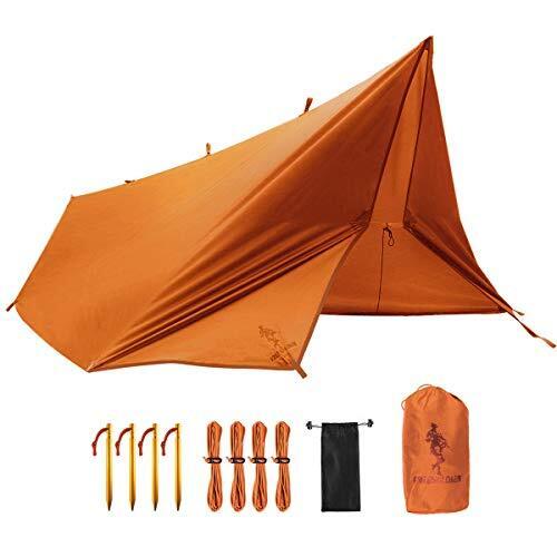 FREE SOLDIER 防水タープ テント キャンプ タープ キャンプ たーぷ 軽量 タープ 日除け タープ ソロ 遮光 タープ 1人用 遮熱 タープ 遮光 タープ コンパクト 軽量 タープ 3m UVカット 紫外線カット ヘキサタープ 320cmx300cm