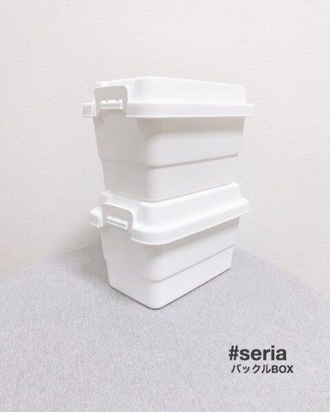 ホワイトが人気!セリアのバックルボックス